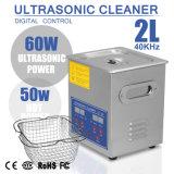 nettoyeur ultrasonique de Digitals d'acier inoxydable de 2L 50W avec le rupteur d'allumage et la chaufferette