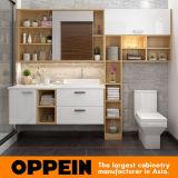 Oppein an der Wand befestigte lamellenförmig angeordnete Badezimmer-Eitelkeit mit Spiegel (BC17-HPL01)