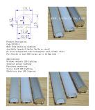 Профиль алюминиевого профиля алюминия 6063-T5 12.2mm СИД утопленный & поверхностный установленный СИД