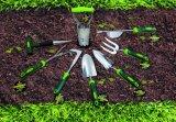 Ferramentas de jardim Rake de folha de plástico reforçado com alça de madeira