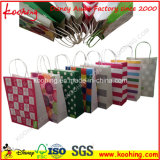 Precio competitivo bolsa de papel reciclable de Navidad
