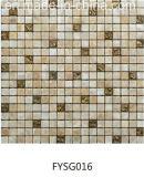 Кристалл мраморный мозаики золота смешанный для плитки пола (FYSG016)