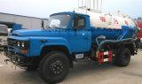 Tipo limpiador de la succión de Dongfeng del carro de la succión de las aguas residuales de 8 metros cúbicos de la alcantarilla