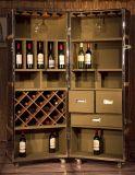 Het antieke Kabinet van de Staaf van de Wijn van het Kabinet van de Wijn van het Kabinet van de Wijn van het Leer Decoratieve Antieke