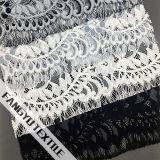 Tessuto di lavoro a maglia del merletto del cotone del fiore di vendita calda