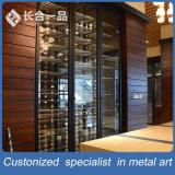 Kundenspezifische an der Wand befestigte schwarze Titanweinkellermöbel für Stab/Verein