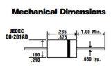 redresseur de barrière de 3.0AMP Schottky de diode de composantes électroniques