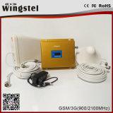 Репитер сигнала полосы GSM/3G 900/2100 3G 4G высокого качества двойной передвижной с антенной