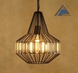 Luz do pendente do frame do metal com decorativo de cristal (C5006151)
