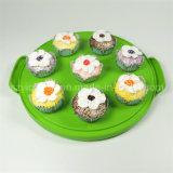 良いプラスチックケーキの看守の容易な取得ケーキのキャリア緑色