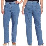 Jeans sexy de boucle de jeans de tailles importantes de dames d'OEM pour des femmes