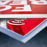 Progettare l'ultima stampa per il cliente di plastica alla moda della scheda di Corflute di colore completo