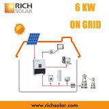 электрическая система PV решетки 6kw солнечная с панелью солнечных батарей