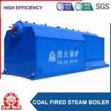 La pressione bassa del doppio timpano Catena-Gratta la caldaia a vapore che non dà fumo del carbone