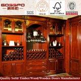 Cremagliera di legno del vino della mobilia della quercia del Governo solido domestico del vino (GSP9-038)