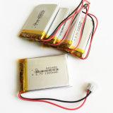 батарея Lipo полимера лития 3.7V 1200mAh перезаряжаемые с разъемом Jst на E-Книги 603450 пусковой площадки видеоигры GPS DVD передвижные