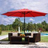 ombrello del parasole di colore rosso di 9FT con metallo Palo 9 '