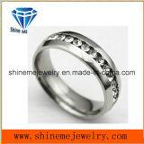 De Ring van de Juwelen van het Zirconiumdioxyde van de Ring van het Staal van het Wolfram van Zircon van de manier (TST2868)