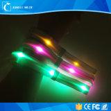 13.56MHz RFID NFC LEDのリスト・ストラップのブレスレットの高い可視性の点滅(15のカラー)