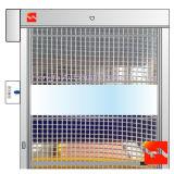 Porte industrielle rapide évaluée d'obturateur de roulement de PVC d'incendie flexible d'intérieur