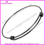 Brazalete de acero expandible Ijb0459 brillante alambre inoxidable de la pulsera de la Mujer