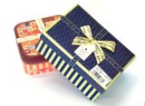 Pequeños rectángulos de papel de la galleta