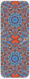 曼荼羅は生命マットの滑り止めのMicrosuedeそして天然ゴムのヨガのマットの花で印刷した