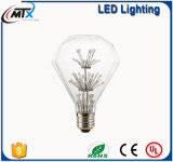heller E27 220V LED Zeichenkette-Heizfaden Retro GlasLampara Ampulle Lumiere Lampa Zarovka des Stern-3D/Birnen-der Lampe der Farben-Fee-LED Edison