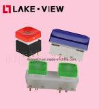 LEDによって照らされる押しボタンスイッチは肯定的なタクタイル応答を提供する