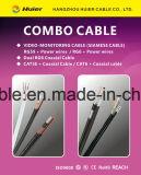 CCTV Rg59 del cable de la cámara con los alambres de la potencia (2DC)