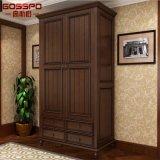 Muebles del guardarropa de la cabina de almacenaje del armario de la ropa de la puerta del blanco 4 (GSP17-021)