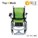 Topmedi Súper ligero peso eléctrico movilidad silla de ruedas