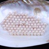 Redondo de calidad superior ninguna perla floja de agua dulce natural del orificio