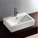 Dispersore caldo quadrato di ceramica di arte di vendita della ciotola di lavata della stanza da bagno