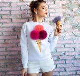 2016 meninas do projeto da forma impressas em volta da camisola Long-Sleeved da garganta (80028)
