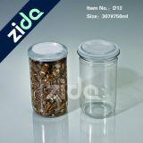 Frasco plástico com tampão de alumínio, frasco do animal de estimação do plástico do produto comestível