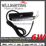 6 indicatore luminoso d'avvertimento sottile del supporto LED della superficie della griglia di W