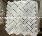 壁の装飾のためのBiancoカラーラの白い大理石のモザイク