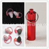 riduzione di disturbo adatta del fungo di figura di silicone del Earplug a 3 strati della gomma