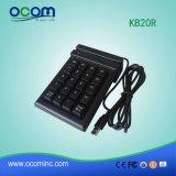 Programa de lectura de raya magnética de Kb20r con el telclado numérico del golpe fuerte de la tarjeta de Pinpad de 20 claves