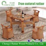 Mobilia del rattan del giardino del patio che pranza l'insieme della mobilia