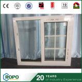 Schiebendes Fenster der Doppelverglasung-UPVC mit Gitter-Entwurf