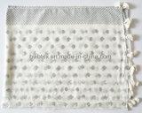 Moda Prata Pó de impressão Viscose Lady Scarf com borlas (HWBVS064)