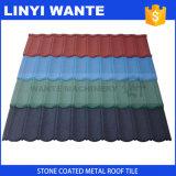 Tuiles colorées enduites en métal de tuile de toit en métal de construction de matériau de pierre légère de mode