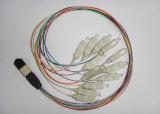 24 Fanout van de vezel lc/pc-MPO de Koorden van het Flard 1m Koord van het Flard van de Vezel LSZH Sm Optisch