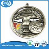 Medaglia del metallo placcata argento antico 3D
