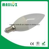 ampoules de bougie de 3W C37 E27 DEL avec 220V