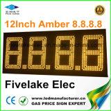 étalage de signe de commutateur de prix du gaz de 12inch DEL (NL-TT30F-3R-4D-AMBER)