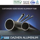 Perfil de aluminio cuadrado redondo de aluminio de la protuberancia T5 del tubo 6063