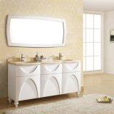 Vanidad de lujo del cuarto de baño de madera sólida del estilo con la cabina lateral